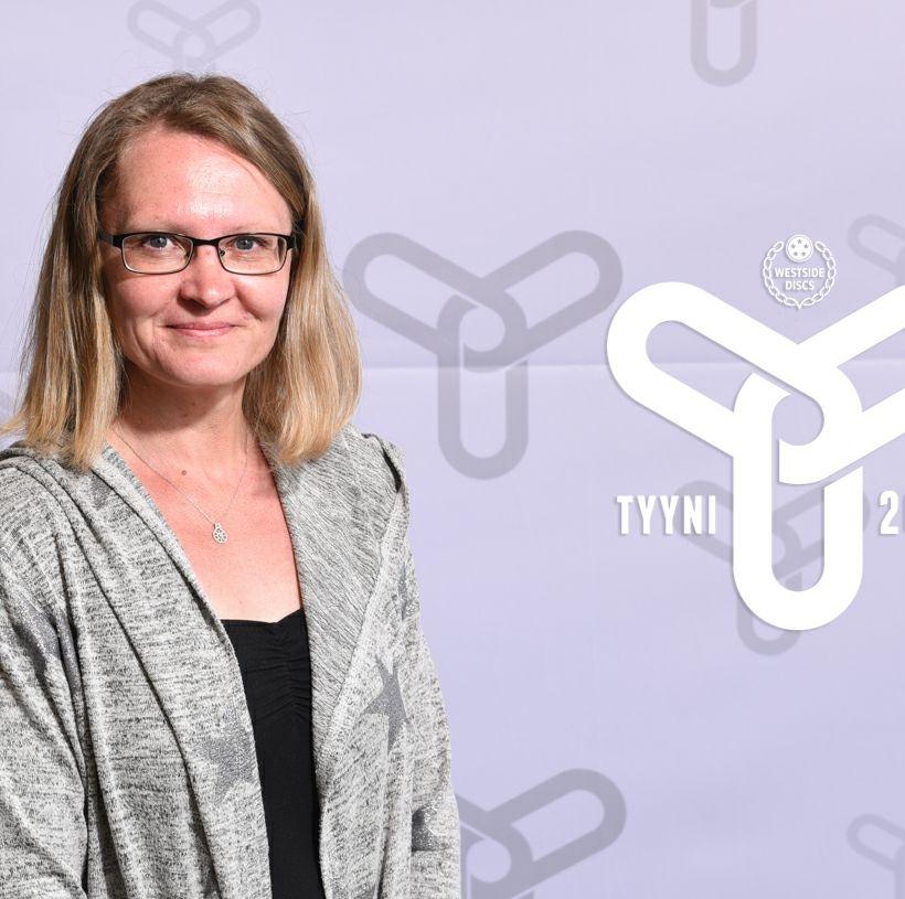 On spotlight: Female amateur player Riikka Salmén.
