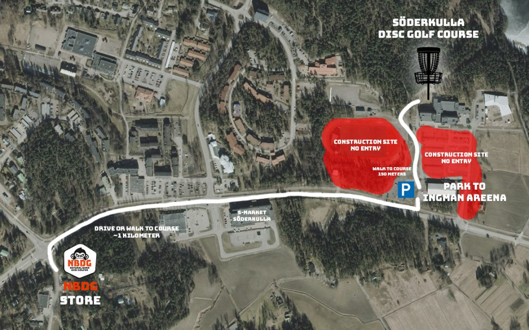 Arriving and parking to Söderkulla Disc Golf Course (Trilogy Challenge, Ladies event and Tyyni juniors)